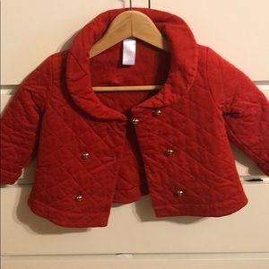 Like new - quilted baby girls jacket